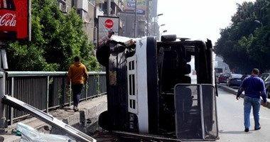 الصحة: 10 إصابات فى حادث انقلاب أتوبيس بالطريق الدولى بكفر الشيخ