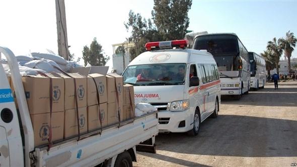 الأمم المتحدة تعلن توزيع آخر الحصص الغذائية على سكان الأحياء الشرقية لحلب