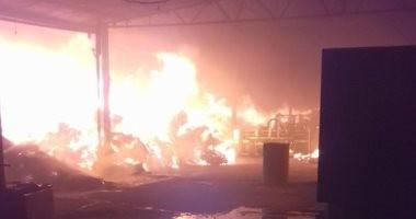 السيطرة على حريق داخل مصنع كيما أسوان وإصابة عامل