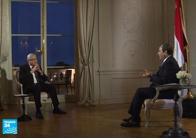 فيديو.. النص الكامل لحوار الرئيس السيسي مع «فرانس 24»