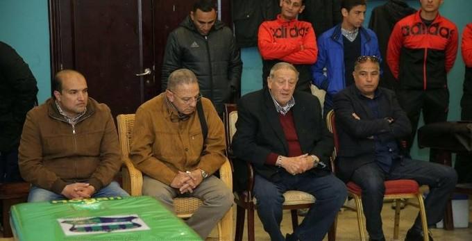 بالصور  تفاصيل جلسة طلعت يوسف وعبدالسلام مع لاعبى المقاصة