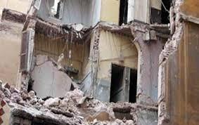 انهيار جزئي لأحد العقارات غرب الإسكندرية