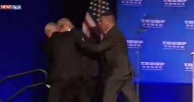 عودة ترامب لمنصة تجمع انتخابى بعد إنزاله بسبب تهديد أمنى بولاية نيفادا