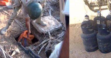 قوات إنفاذ القانون تضبط 80 لغما مضادا للدبابات فى وسط سيناء