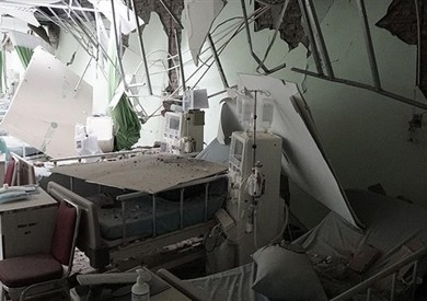 انهيار جزء من سقف قسم الأشعة بمستشفى طوخ