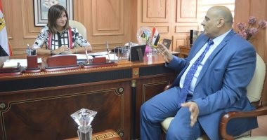 وزيرة الهجرة تلتقى رئيس الجالية المصرية فى روسيا