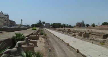 """صور.. """"طريق الكباش"""" بالأقصر.. سحر التاريخ الفرعونى وشاهد على تتويج الملوك"""