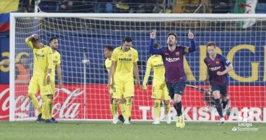 أهداف مباراة نادى برشلونة و فياريال بالدوري الاسباني