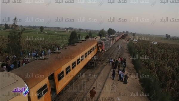 حبس سائق قطار ركاب البحيرة ومساعده وعامل التحويلة