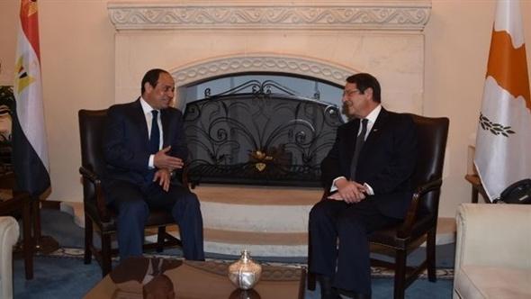 السيسي يشكر رئيس قبرص على مساندة مصر داخل الاتحاد الأوروبي
