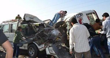 """قارئ يشارك """"صحافة المواطن"""" بصور لحادث تصادم بطريق قليوب – شبين القناطر"""