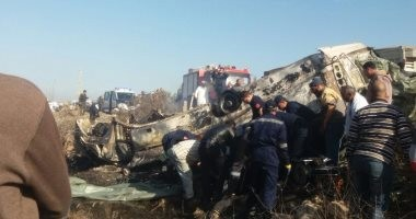 إزالة حطام أتوبيس الإسكندرية بالكامل بعد نقل المصابين للمستشفيات