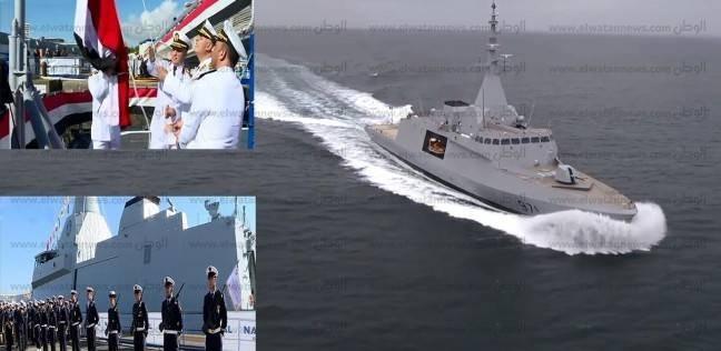 """الفرقاطة """"الفاتح""""و""""الغواصة 42"""" تنضمان للأسطول البحري المصري"""