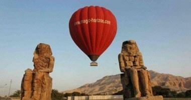 تحليق 13 رحلة بالون طائر تقل 237 سائحا أجنبيا فى سماء الأقصر