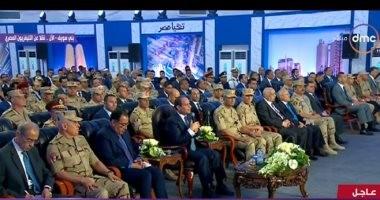 30 رسالة وجهها السيسى للمصريين فى افتتاح مجمع مصانع الأسمنت ببنى سويف