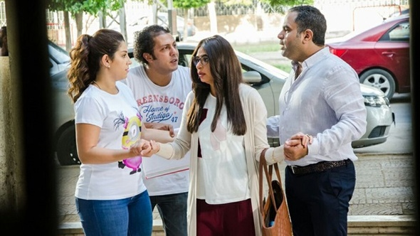 "آيتن عامر تحتفل بعيد ميلادها مع أسرة ""يا تهدي يا تعدي"""