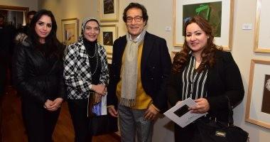 الفنان فاروق حسنى يفتتح معرضه الجديد.. والسفير السعودى يشيد باللوحات