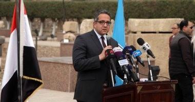 صور.. وزير الآثار يفتتح أعمال تطوير متحف مسلة سنوسرت الأول بالمطرية