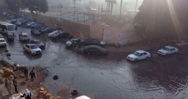 انقطاع المياه عن محافظة بورسعيد بعد كسر ماسورة رئيسية فى شارع طرح البحر