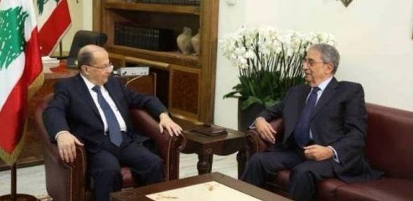 """""""عون"""" يلتقى """"موسى"""" لتقديم التهنئة ومناقشة أوضاع المنطقة العربية"""