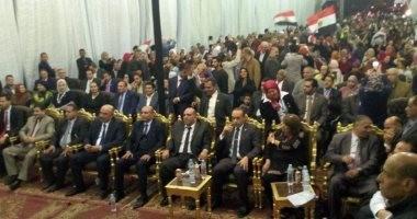 """صور.. """"مستقبل وطن"""" بالقليوبية يقيم مؤتمرا حاشدا لدعم الرئيس بشبرا الخيمة"""
