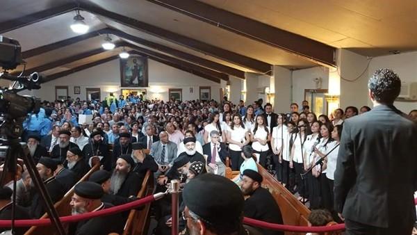 تسابيح وترانيم في حفل افتتاح مبنى مدارس الأحد ببوسطن