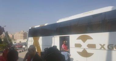 بالصور.. المنتخب يتوجه إلى الإسكندرية بـ15 لاعبا