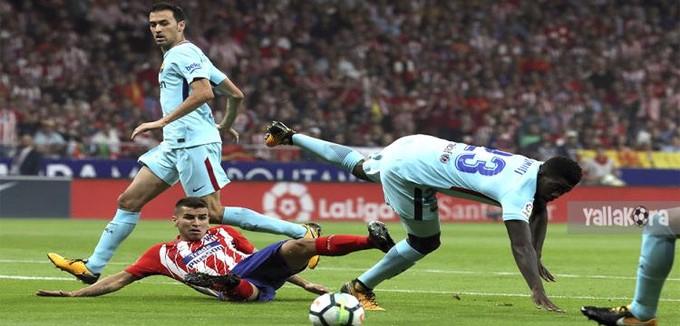 بالفيديو.. برشلونة يدرك تعادلاً صعباً مع أتلتيكو ليحافظ على صدارة الليجا