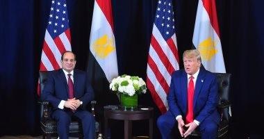 ترامب خلال لقاء الرئيس: الفوضي عمّت مصر وتوقفت بمجىء السيسى