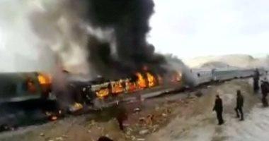 ارتفاع حصيلة ضحايا حادث تصادم قطارين في إيران إلى 143 قتيلا وجريح