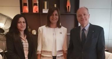 وزيرة الهجرة تلتقى السفير اليونانى فى لندن للإعداد لمؤتمر إحياء الجذور الثالث