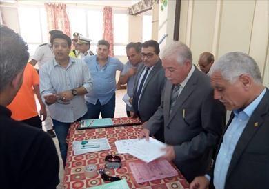 محافظ جنوب سيناء يتابع اختبارات كلية التربية الرياضية بجامعة العريش
