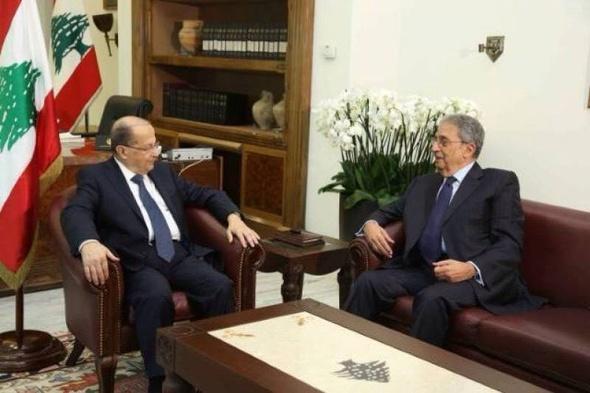 عمرو موسى يناقش تطورات الأوضاع مع الرئيس اللبناني