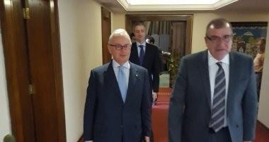 """""""الأعمال المصرى الأوروبى"""" يجتمع مع سفير إيطاليا الجديد لبحث زيادة الصادرات"""