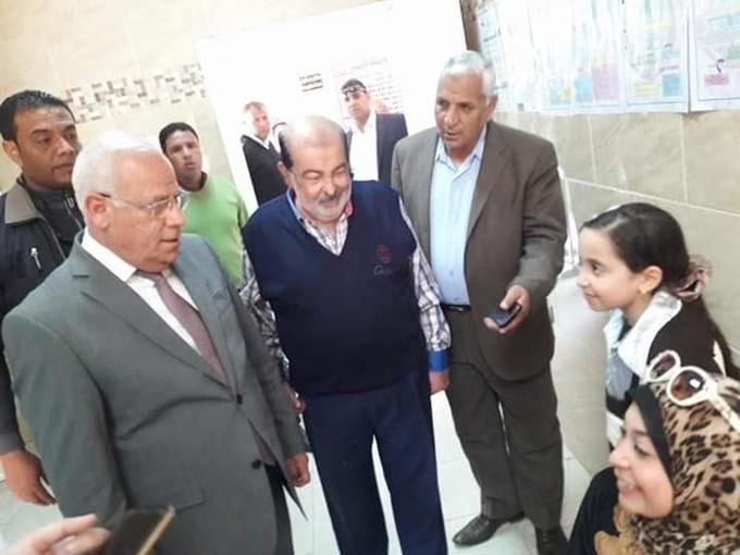محافظ بورسعيد يتفقد أعمال تطوير مستشفي بورفؤاد