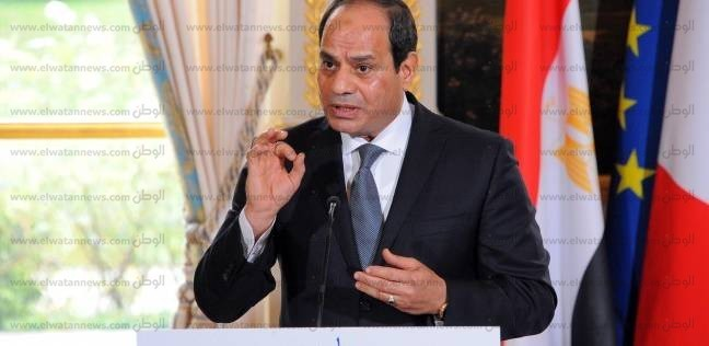 السيسي يلتقي رئيس مجلس الشيوخ الفرنسي جيرار لارشيه