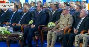 """السيسي يشاهد فيلما تسجيليا بعنوان """"مستقبل واعد"""" خلال افتتاح مشروعات تنموية"""
