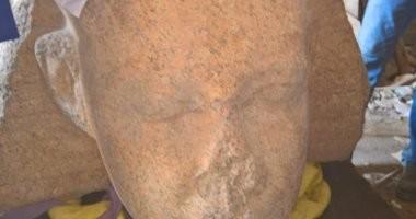 صور.. المتحف المصرى الكبير يستقبل رأس الملك سنوسرت الأول