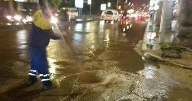 أمطار رعدية غزيرة على مناطق متفرقة فى الإسكندرية
