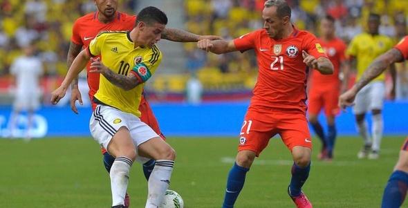 التعادل يحسم مواجهة كولومبيا وتشيلي في تصفيات المونديال