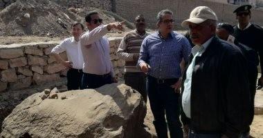 صور.. وزير الآثار يتفقد أعمال إعادة إحياء طريق الكباش الفرعوني بالأقصر