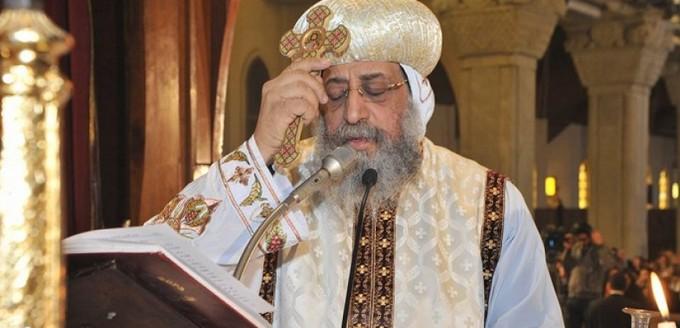 البابا تواضروس يترأس صلوات الجنازة على جثمان الأنبا فام أسقف طما بـ«البطرسية»