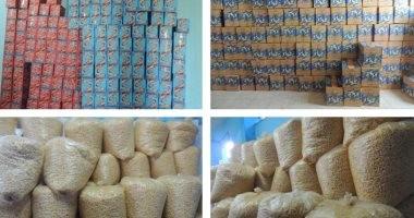 ضبط 14 طن سلع غذائية مجهولة المصدر بشبرا الخيمة