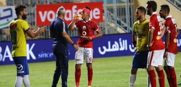 إصابة عمرو جمال بعد صدامه مع الشناوي