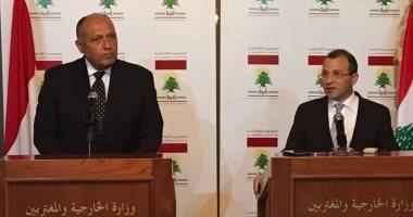 شكري يؤكد توافق في الرؤي بين مصر ولبنان بشأن التعاون الاقتصادي ومحاربة الإرهاب