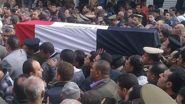 تشييع شهيد الواجب العميد هشام أبو العزم في جنازة عسكرية بالعريش