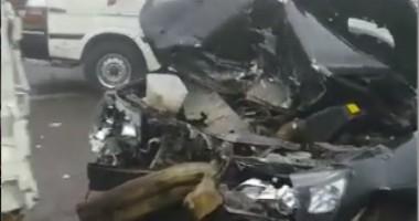 إصابة 11 شخصا فى حادث انقلاب ميكروباص على طريق أسوان الصحراوى