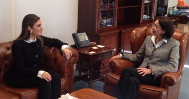 """وزيرة التعاون الدولى تلتقى وزير المالية اللبنانى ومديرة """"الأسكوا"""""""