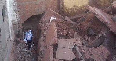 بالصور ..انهيار منزل مكون من 4 طوابق بالغربية دون خسائر فى الأرواح