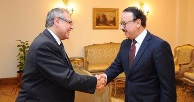 وزير الاتصالات يستقبل سفراء مصر الجدد لدى روسيا الاتحادية وصربيا